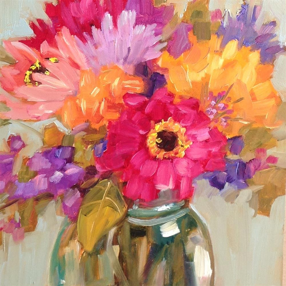 """Zen Bouquet"" original fine art by Libby Anderson"