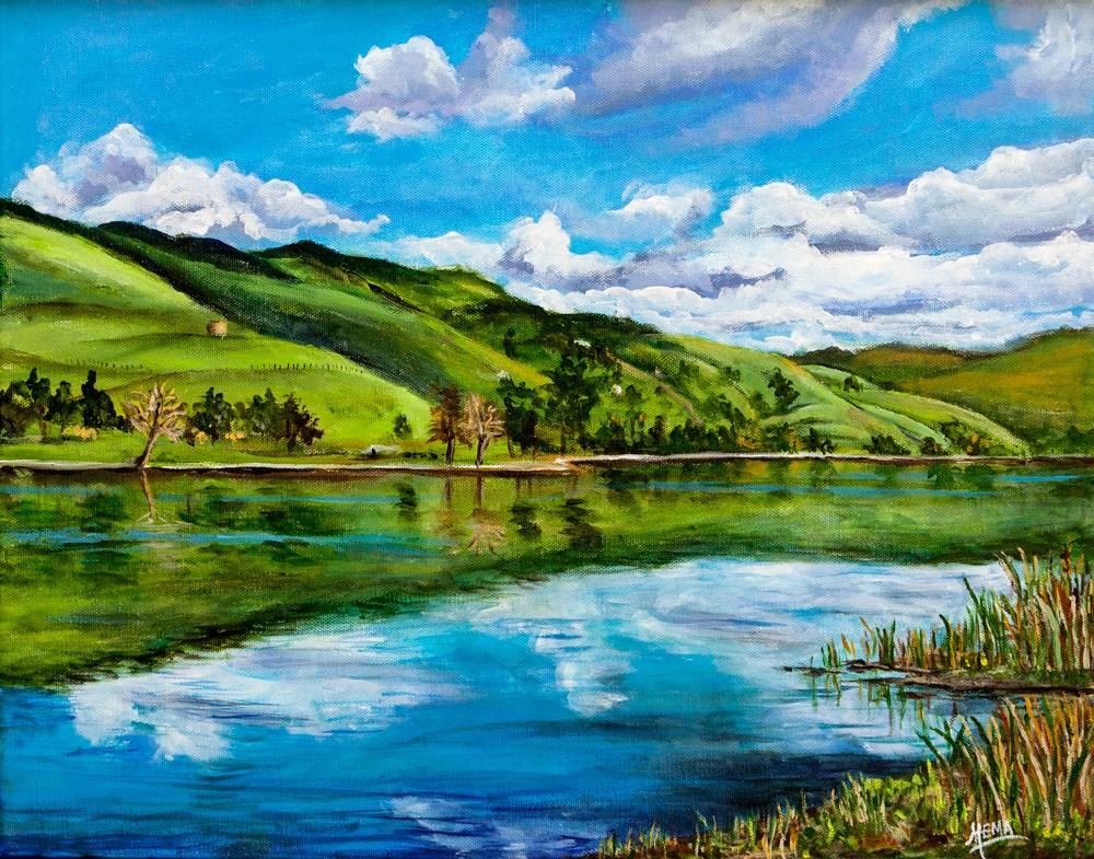 """Spring reflections"" original fine art by Hema Sukumar"