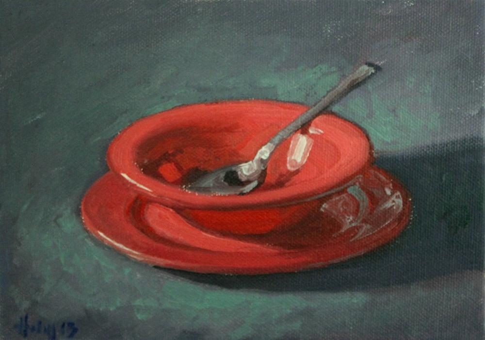 """Awaiting Soup"" original fine art by Ski Holm"
