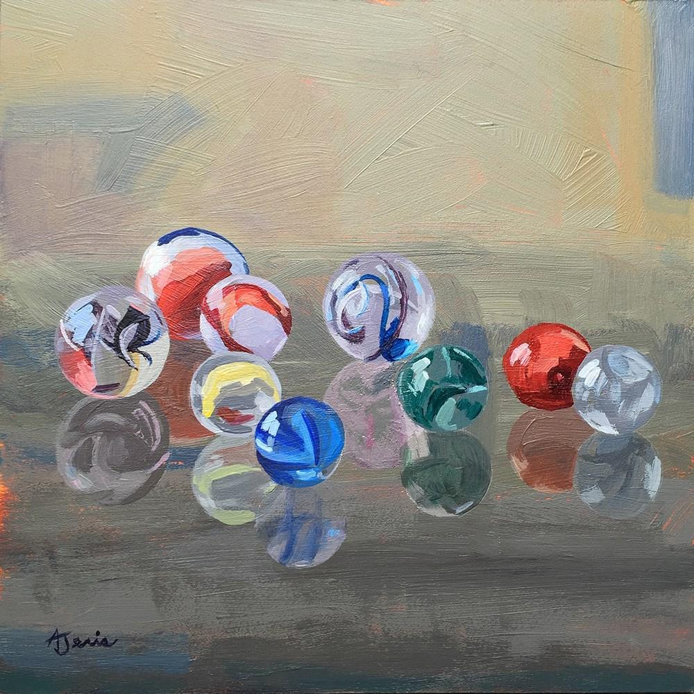 """Found Marbles"" original fine art by Andrea Jeris"