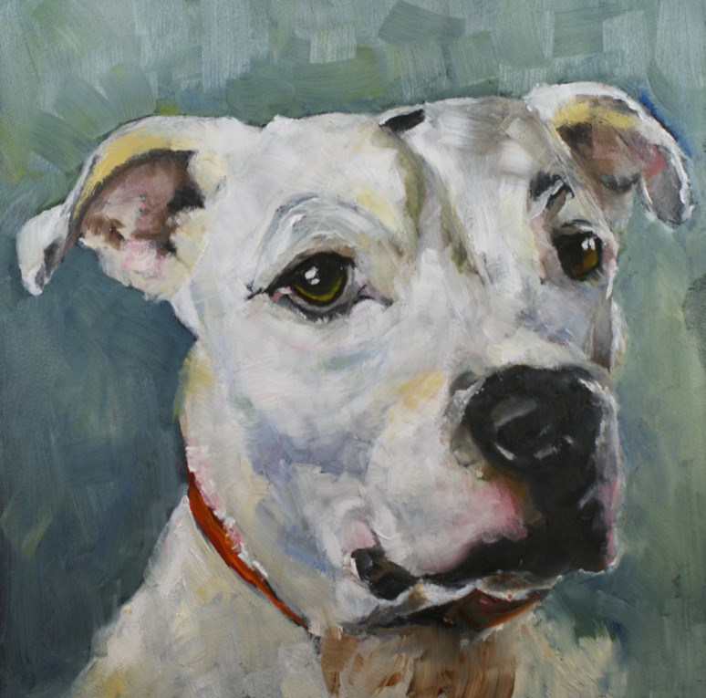 """Pet #18: Faithful"" original fine art by Sue Churchgrant"