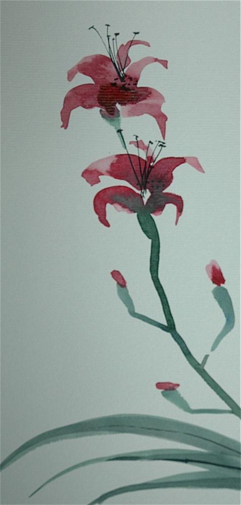 """Lilies"" original fine art by Ulrike Schmidt"