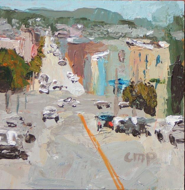 """SanFrancisco cityscape"" original fine art by Christine Parker"
