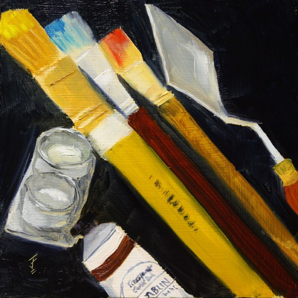 """Tools of the Trade"" original fine art by Jane Frederick"