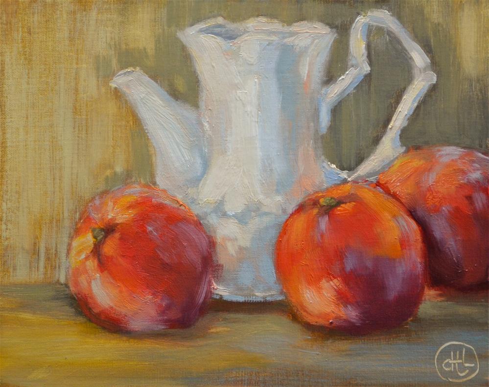 """peaches and cream"" original fine art by Dottie  T  Leatherwood"