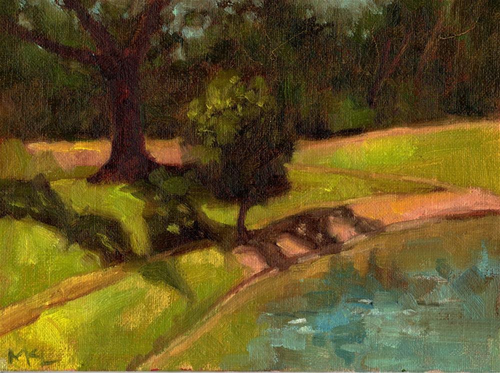 """Tree by the Arboretum, 2018"" original fine art by Marlene Lee"