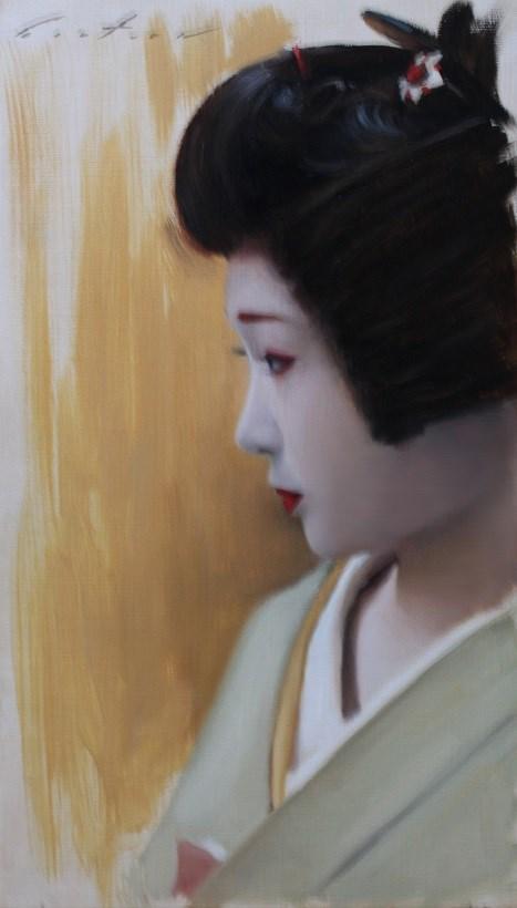 """""""Katsuru in Profile"""" original fine art by Phil Couture"""