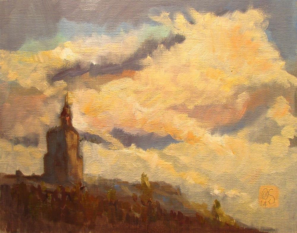 """Skytop Morning"" original fine art by Aurelio Saiz"