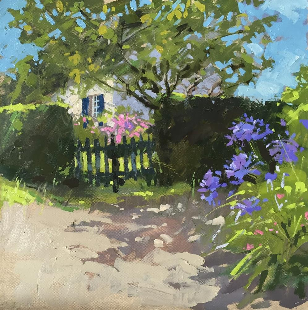 """""""Fig tree and shadows"""" original fine art by Haidee-Jo Summers ROI"""