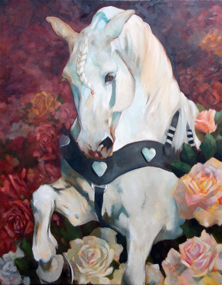 """""""Love Song"""" original fine art by Elaine Juska Joseph"""