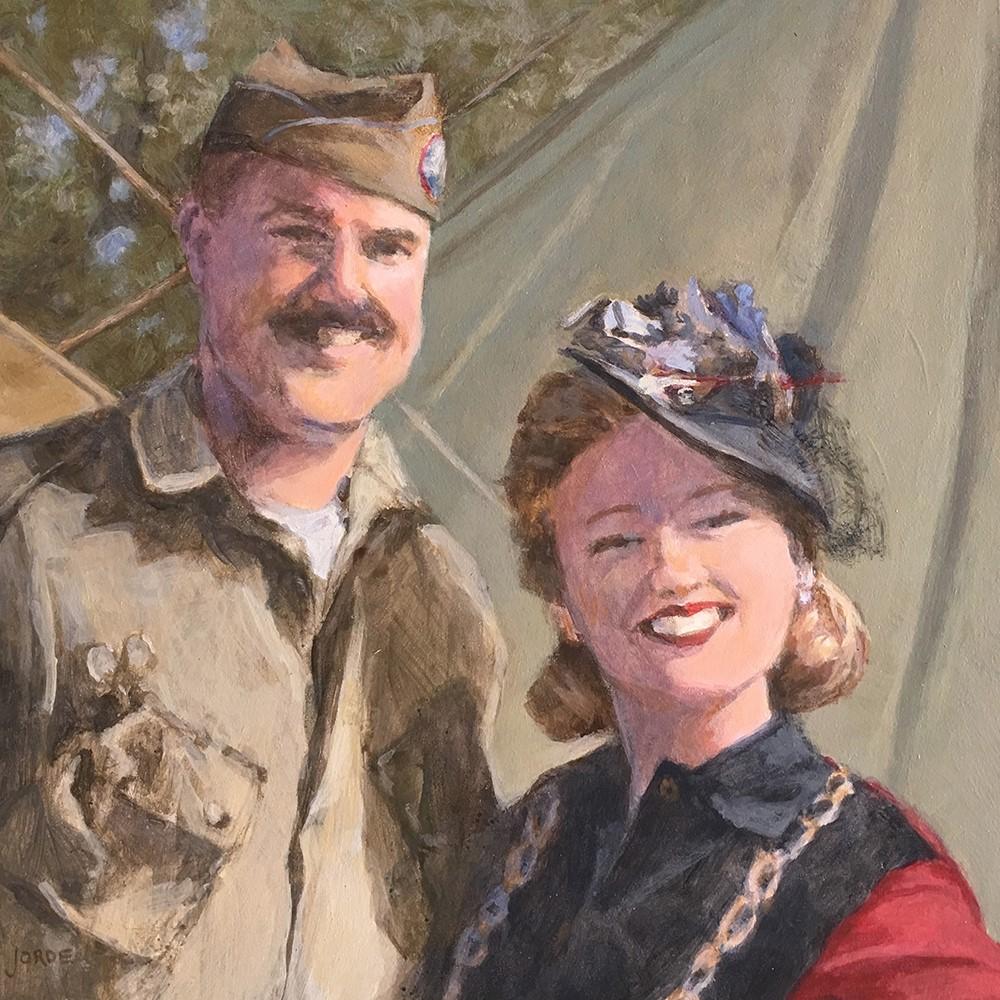 """""""WWII Reenactors"""" original fine art by Robyn Jorde"""