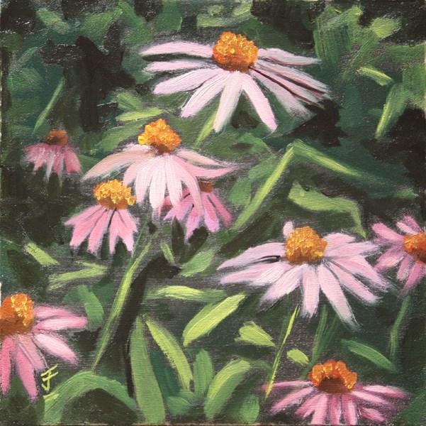"""Coneflowers"" original fine art by Jane Frederick"