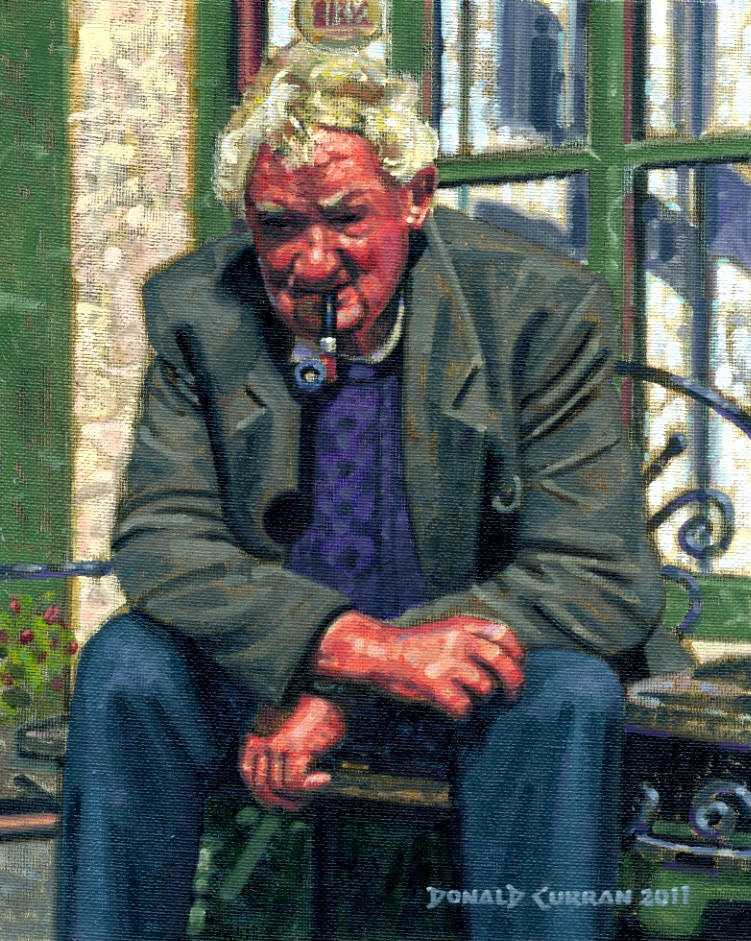 """""""An Irish Gentleman"""" original fine art by Donald Curran"""