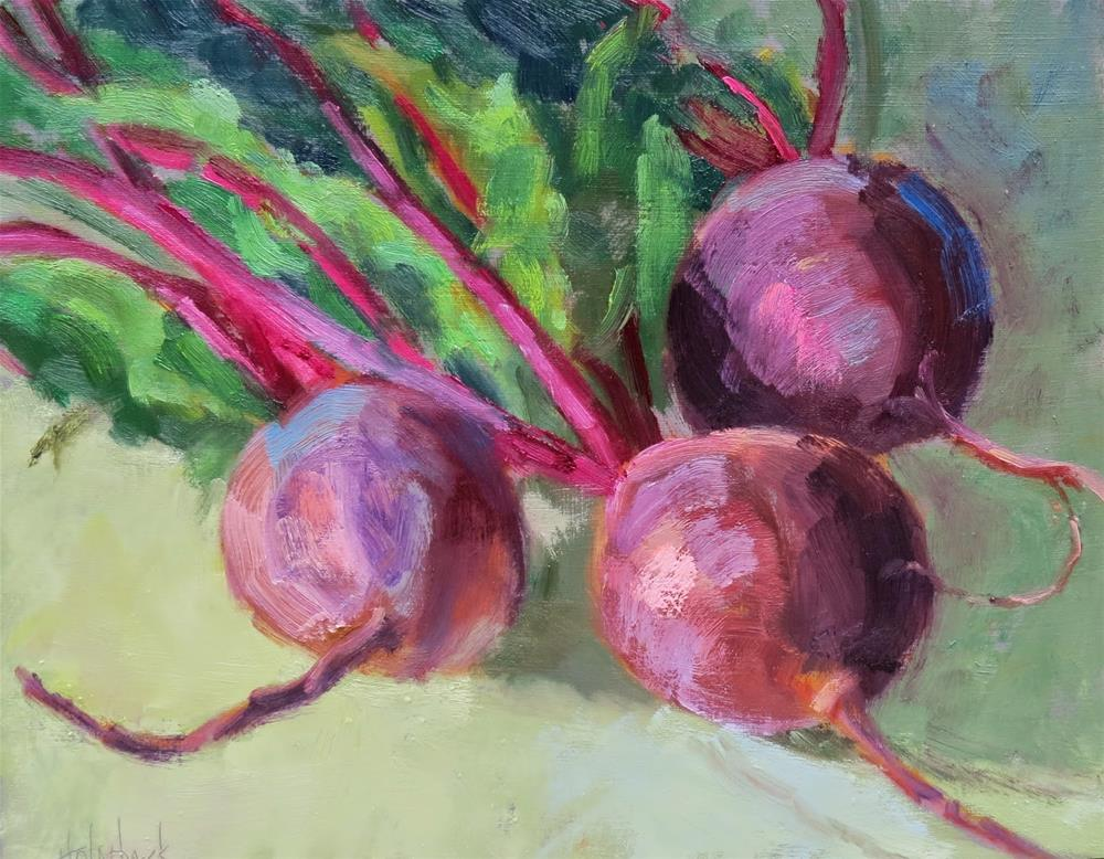 """""""In A Heart Beet"""" original fine art by Pam Holnback"""