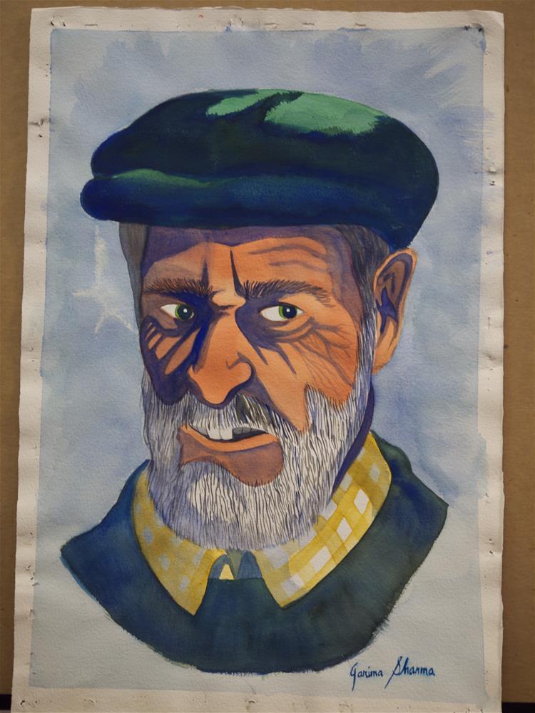 """""""The Old Mariner"""" original fine art by Garima Heath"""