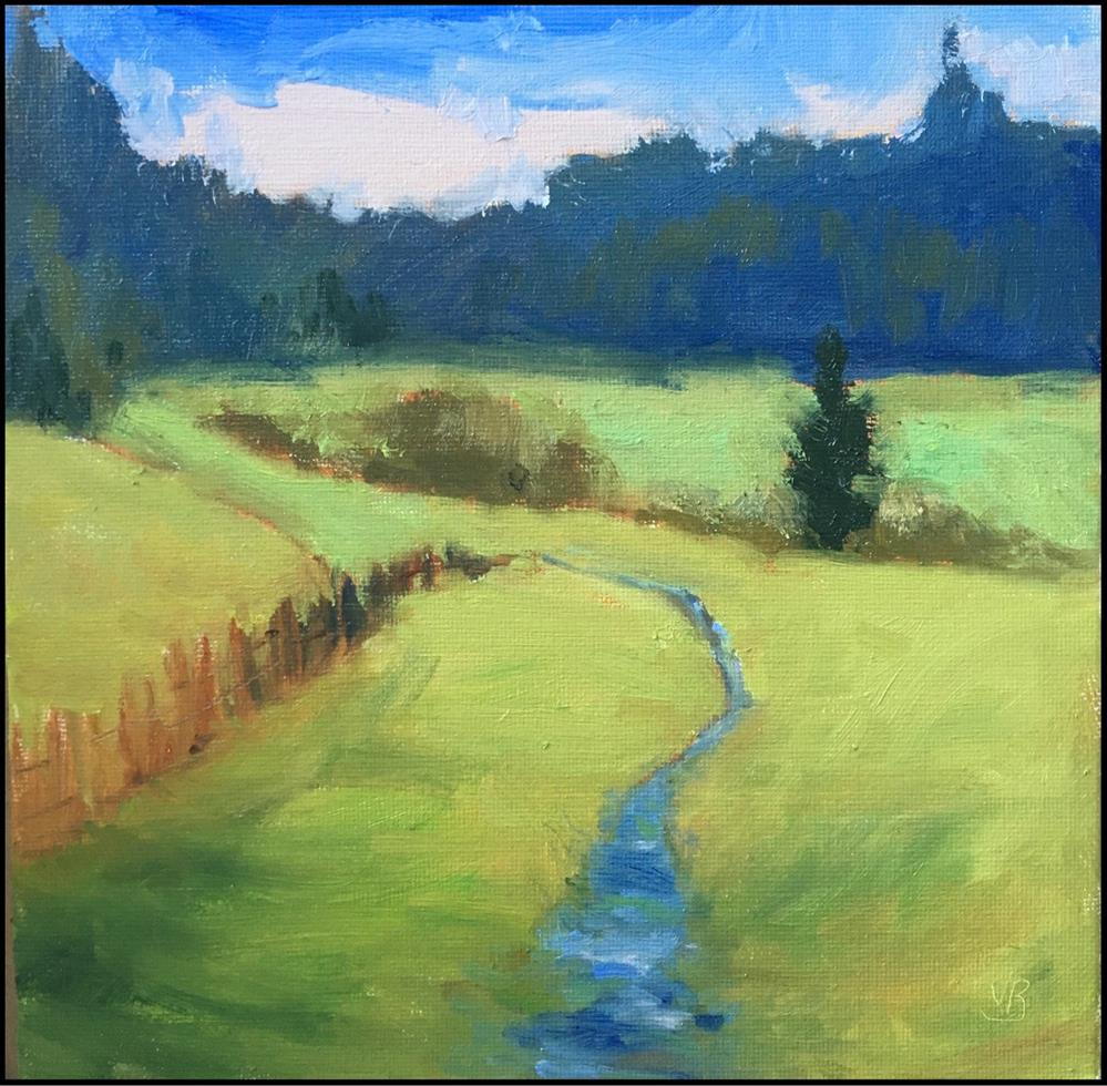 """""""It's Green, they say, on the Far Side of the Hill"""" original fine art by Victoria  Biedron"""