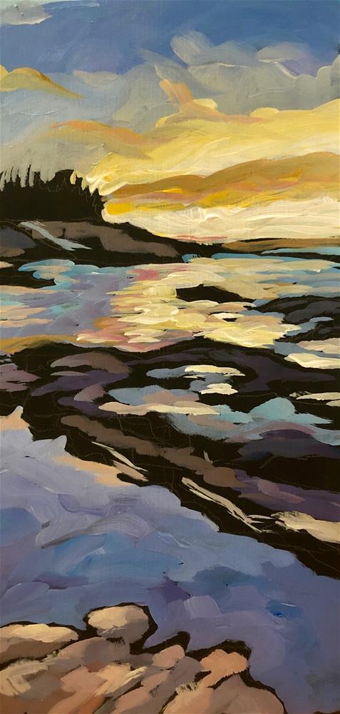 """Sunrise Gradations"" original fine art by Kat Corrigan"