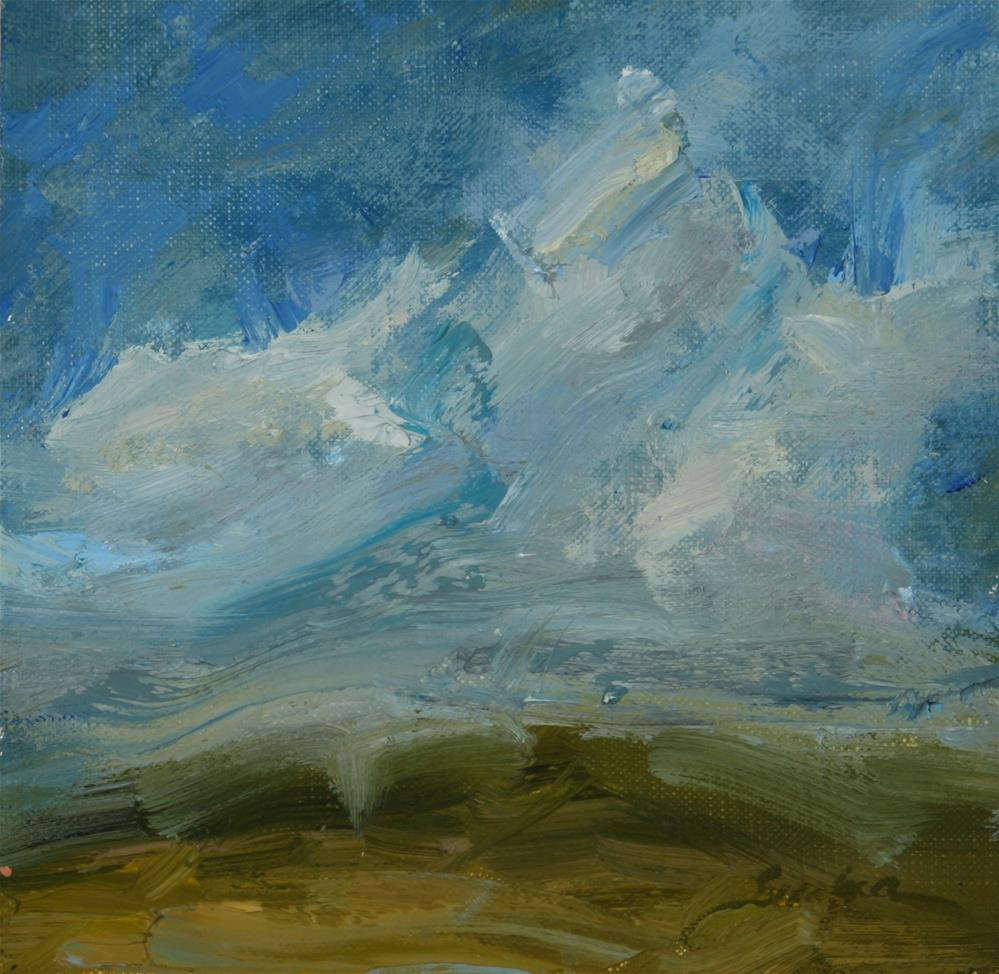 """South Texas Clouds Study"" original fine art by Scott Serafica"