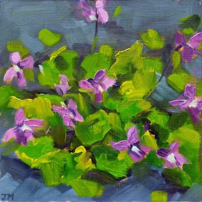 """""""Violets"""" original fine art by Jessica Miller"""