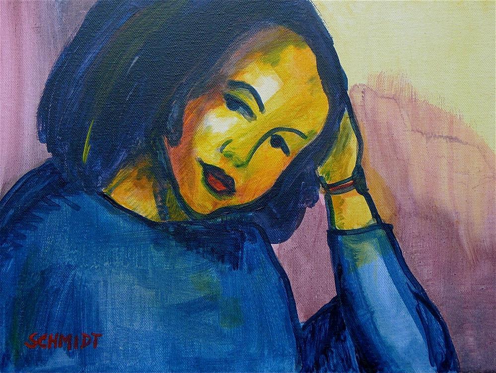 """Woman (after Nolde)"" original fine art by Ulrike Schmidt"