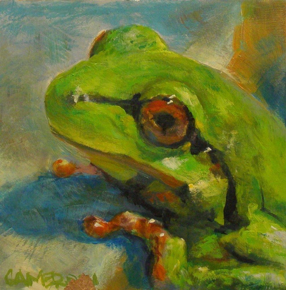 """LITTLE FROG"" original fine art by Brian Cameron"