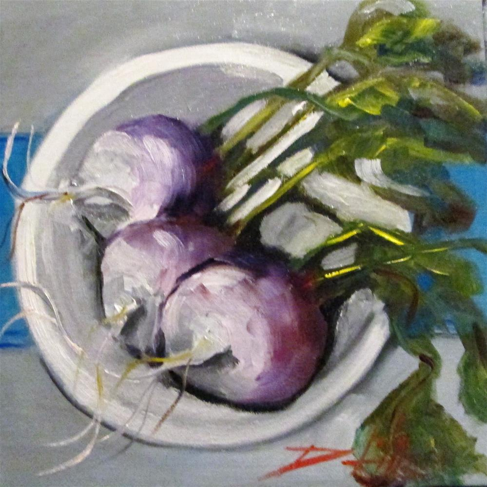 """Turnips on a Plate"" original fine art by Delilah Smith"