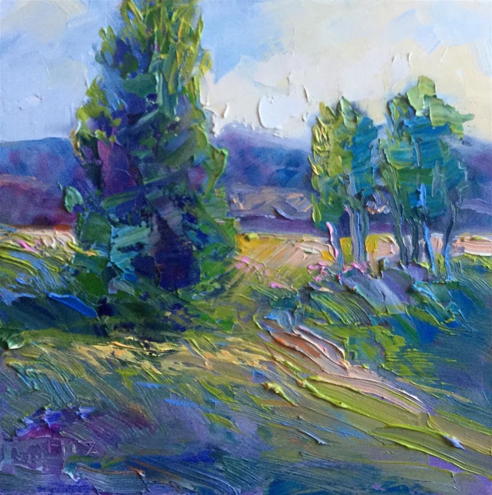 """Cedars"" original fine art by Charlotte Fitzgerald"