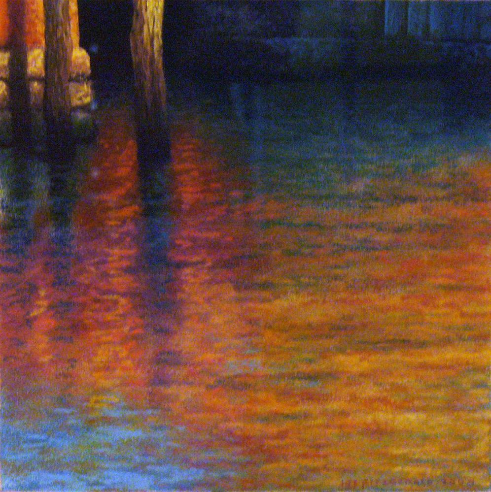 """Verticals - Venice"" original fine art by Joe Fitzgerald"