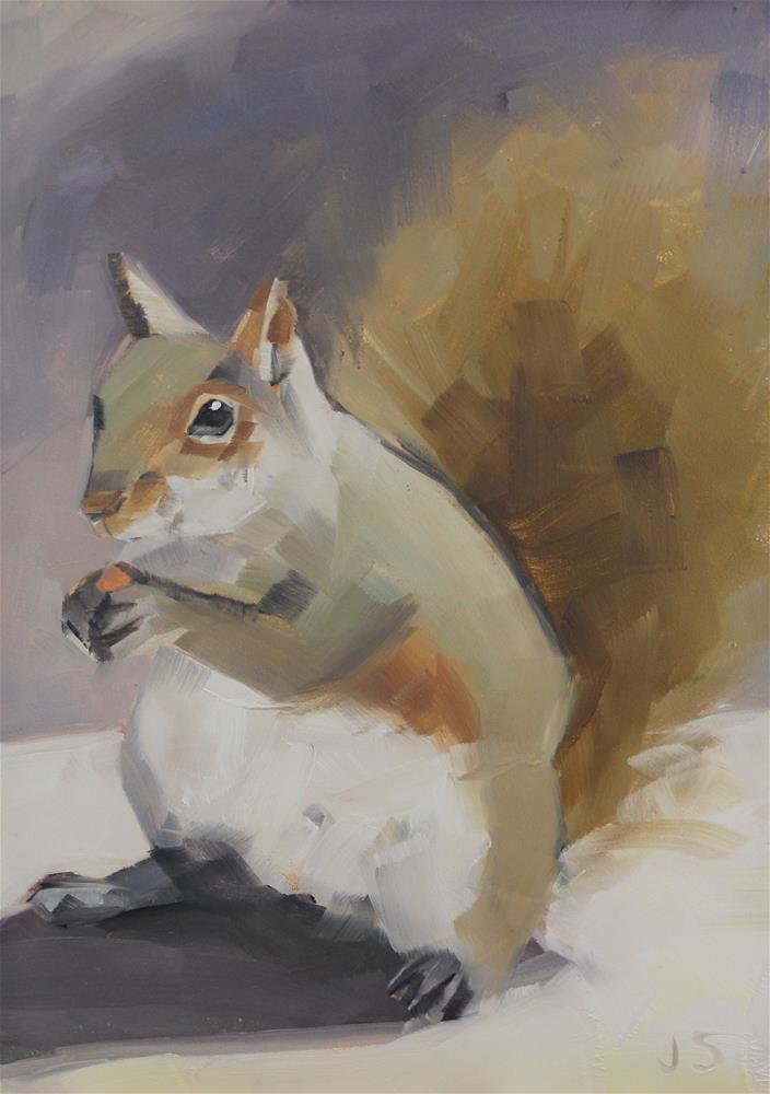 """""""Squirrel"""" original fine art by Jamie Stevens"""