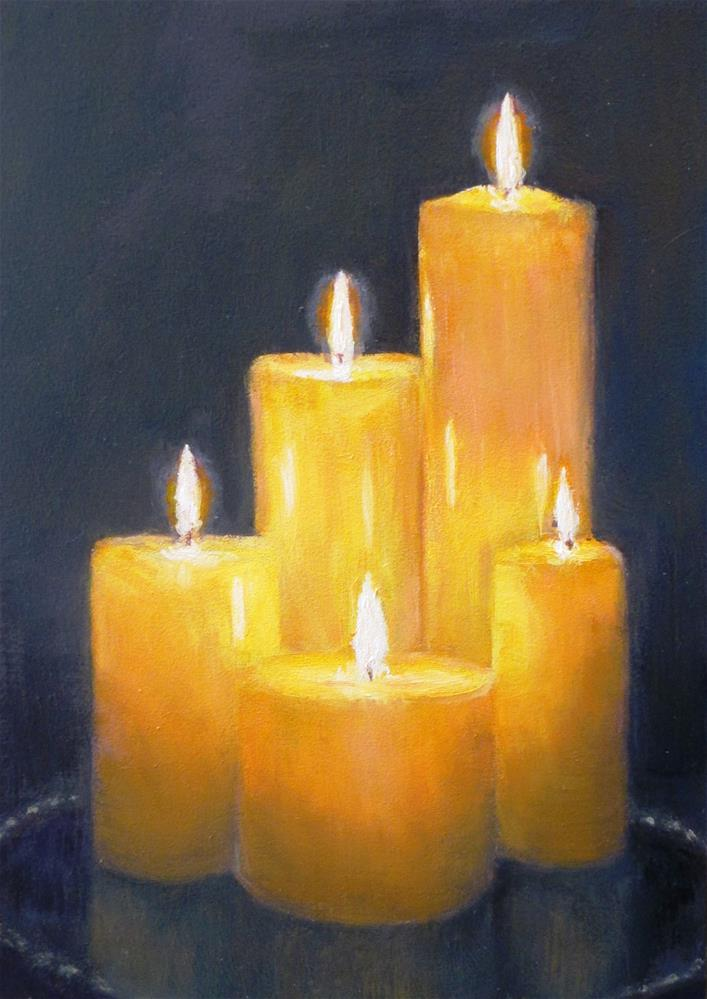 """Peace on Earth"" original fine art by Linda Demers"