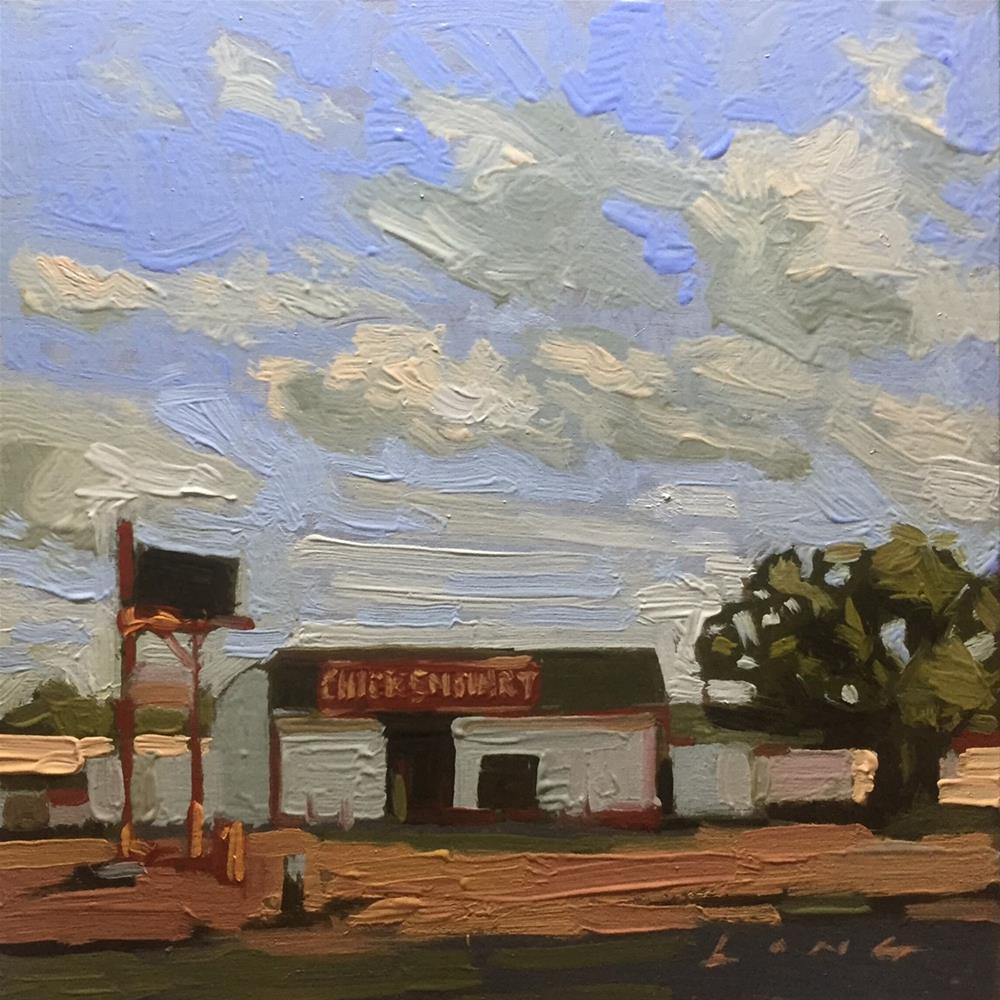"""""""Chicken Mart"""" original fine art by Chris Long"""