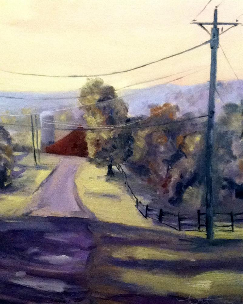 """End of Bailey..."" original fine art by kay  keyes farrar"