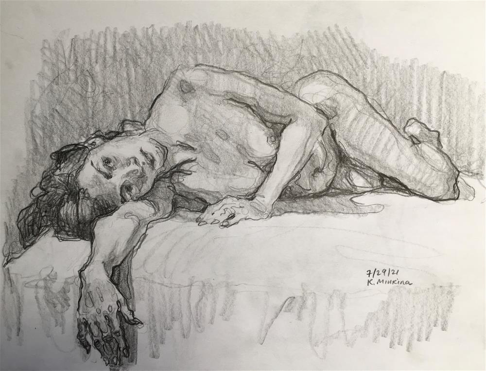 """Figure83"" original fine art by Katya Minkina"
