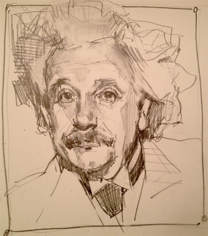 """""""My Einstein"""" original fine art by Laurie Johnson Lepkowska"""