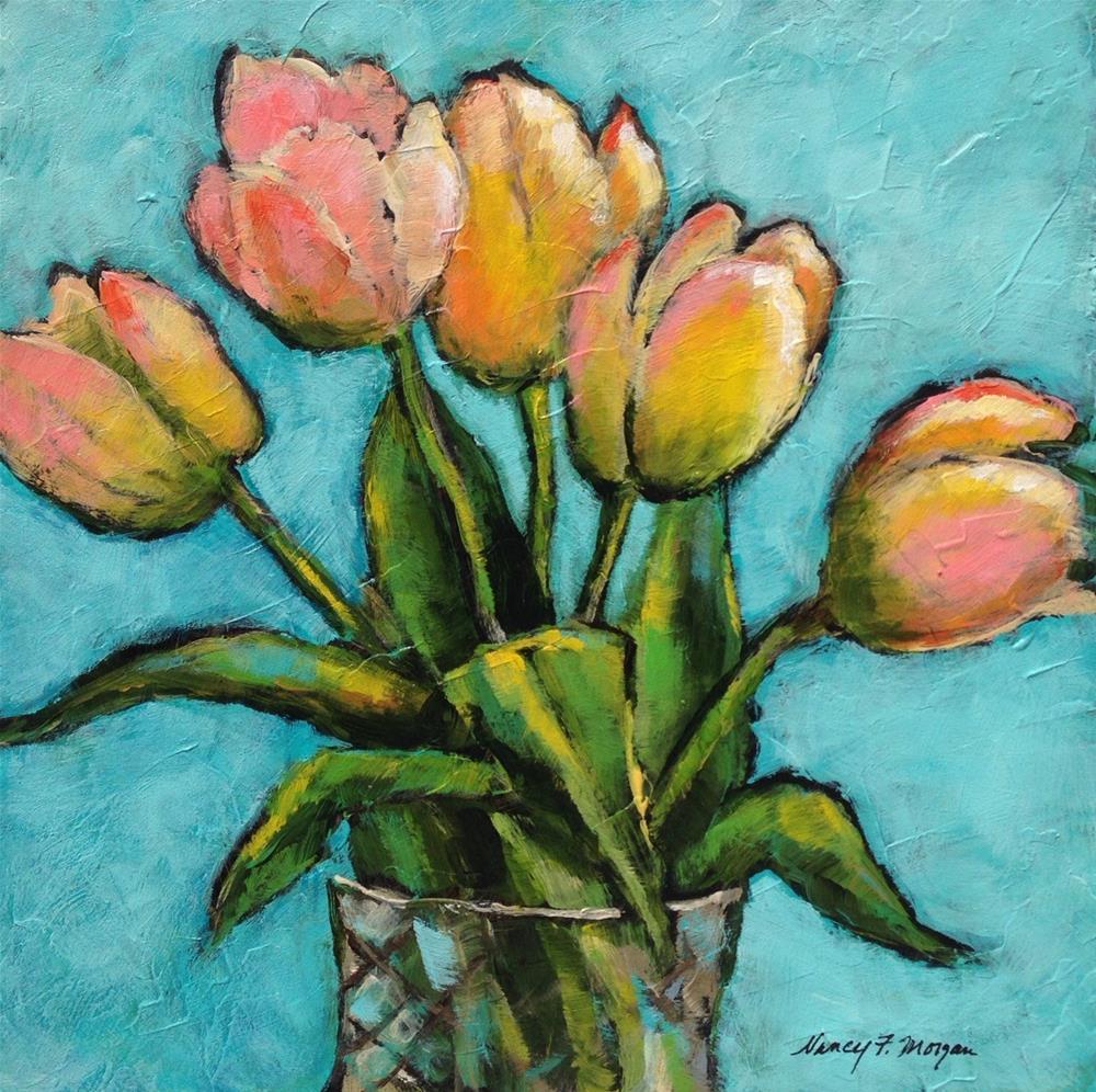 """Dreamy Tulips"" original fine art by Nancy F. Morgan"