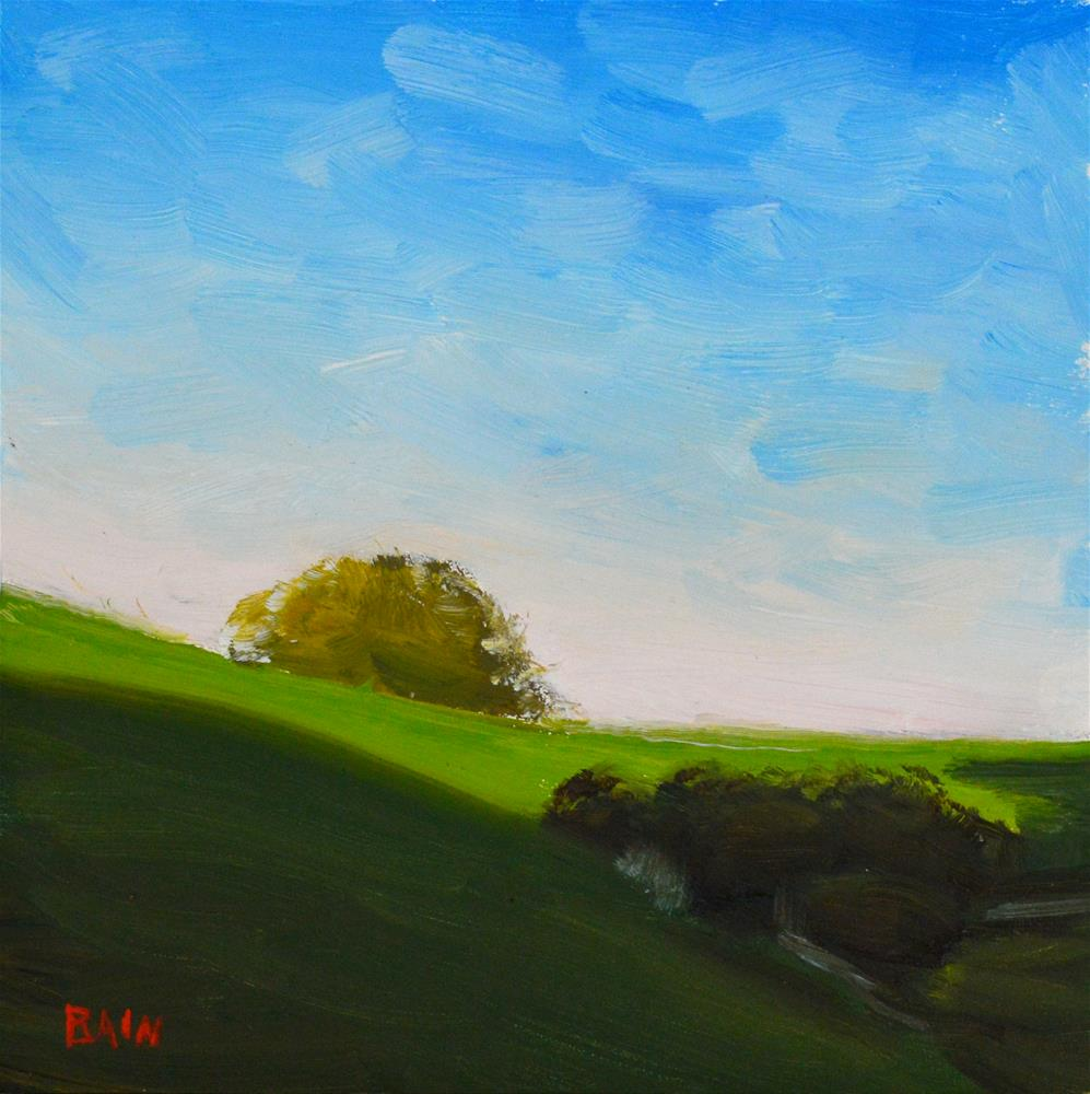 """West Wind Barn"" original fine art by Peter Bain"