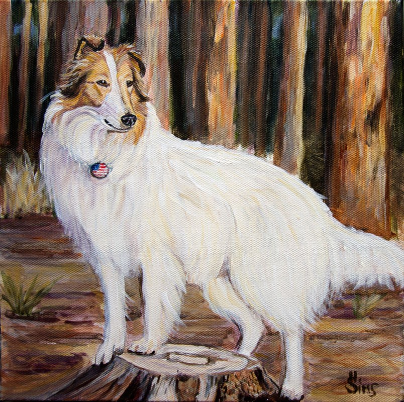 """Pride"" original fine art by Heather Sims"