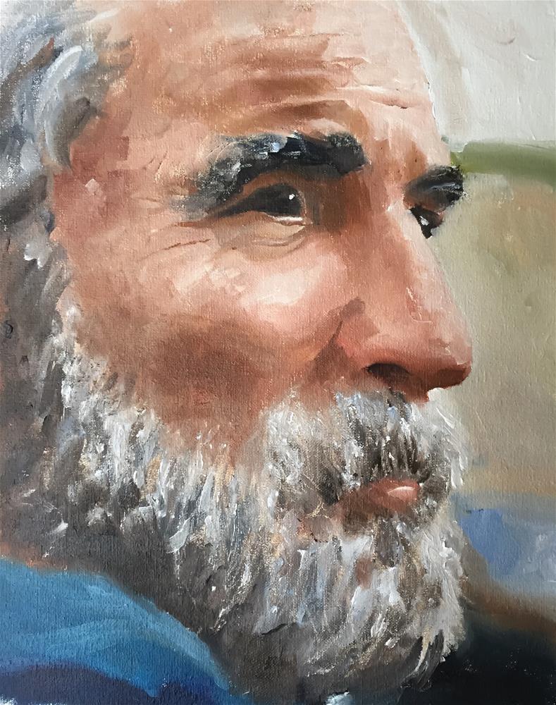 """The Thinker"" original fine art by James Coates"