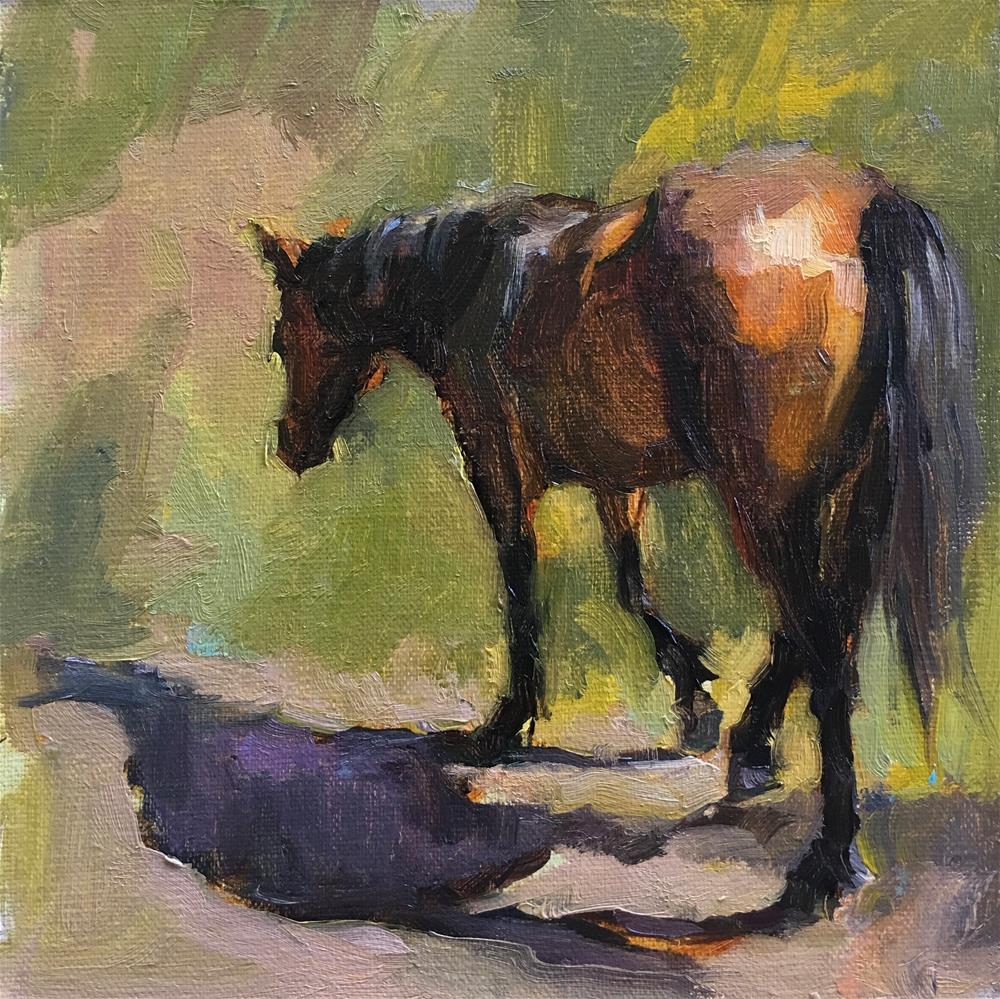 """In Search for Greener Pastures (Framed)"" original fine art by Katya Minkina"