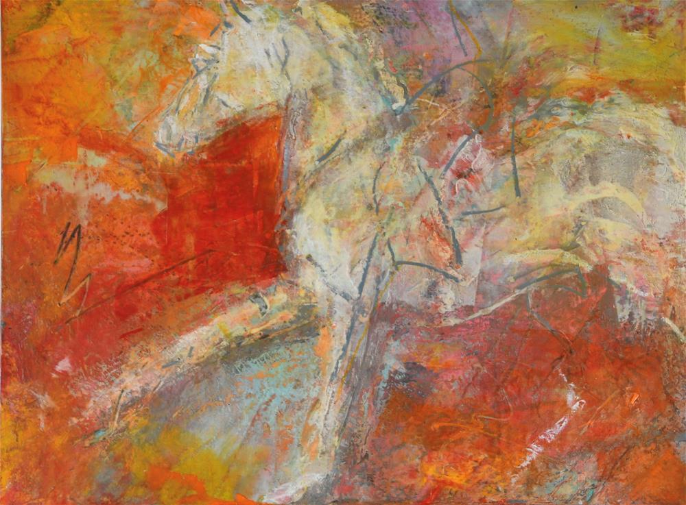 """""""Accelerate #3"""" original fine art by Jennifer Pratt"""