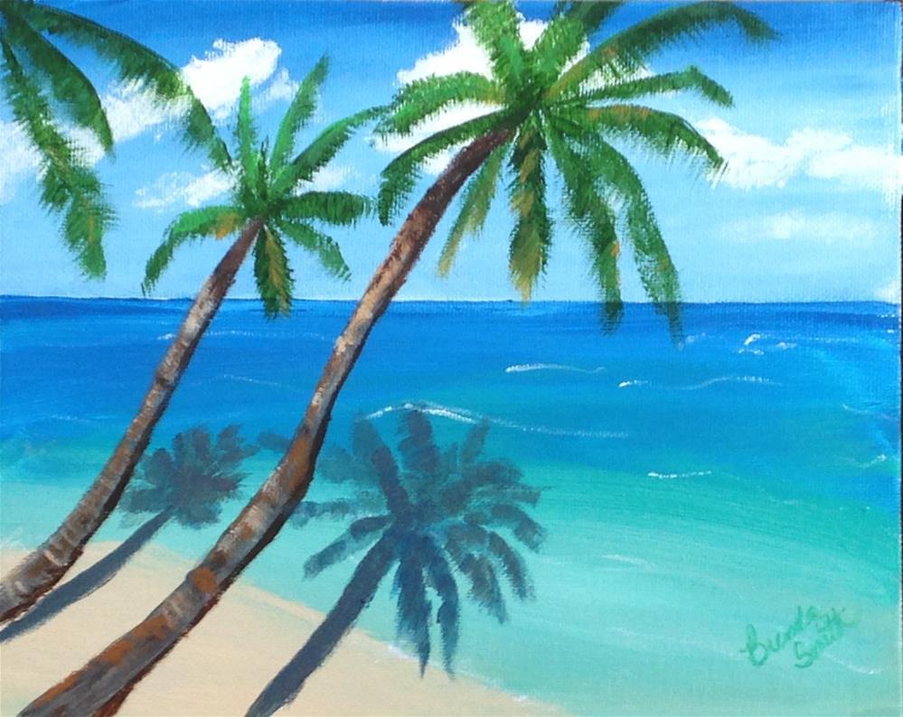 """Shadows on the Shore"" original fine art by Brenda Smith"