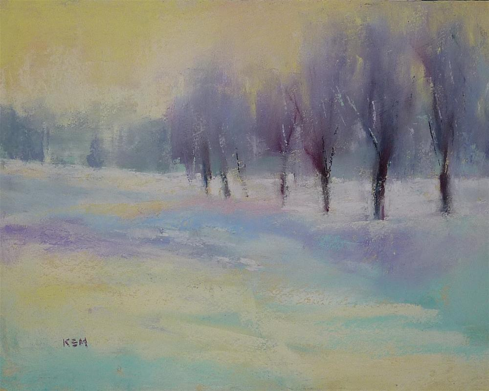 """Winter Impressions in Pastel"" original fine art by Karen Margulis"
