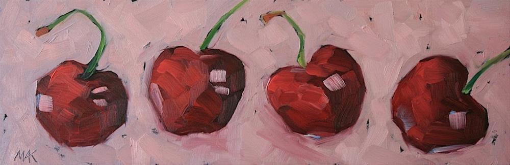"""Cherry Line"" original fine art by Mary Anne Cary"