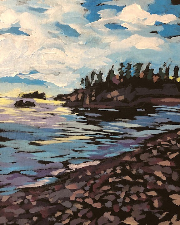 """Another Northern Island"" original fine art by Kat Corrigan"