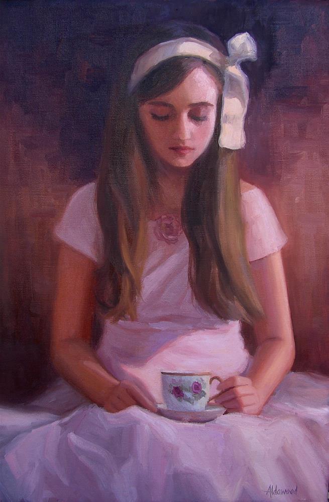 """Ella in Vintage Dress"" original fine art by Sherri Aldawood"