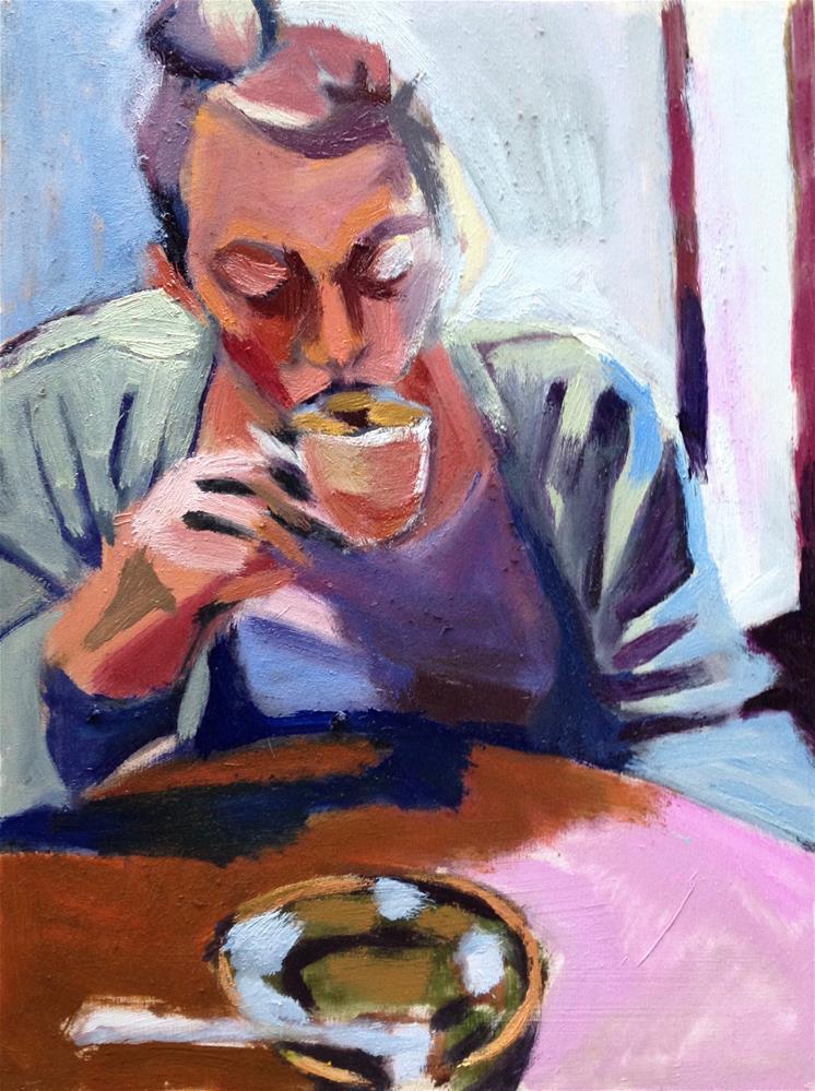 """The Espresso III"" original fine art by Pamela Hoffmeister"