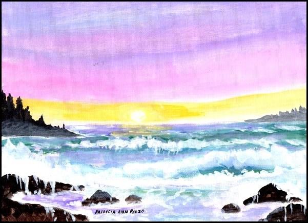 """""""Lavender Sea 2"""" original fine art by Patricia Ann Rizzo"""
