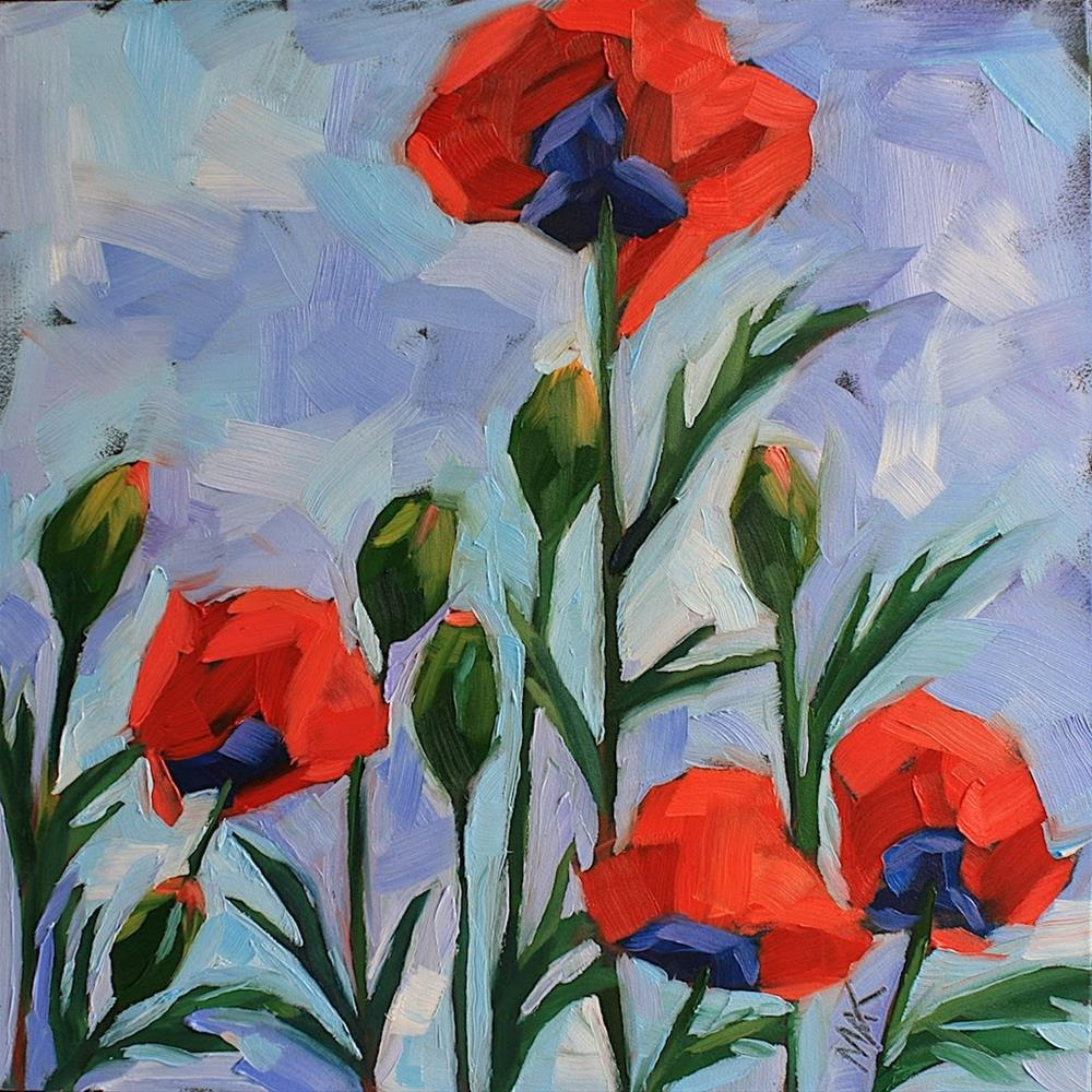 """""""A Little Color with your Poppies"""" original fine art by Mary Anne Cary"""