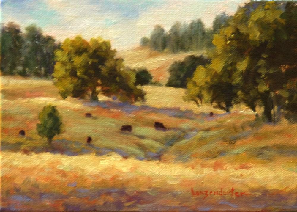 """""""GRASS VALLEY SUMMER"""" original fine art by Dj Lanzendorfer"""