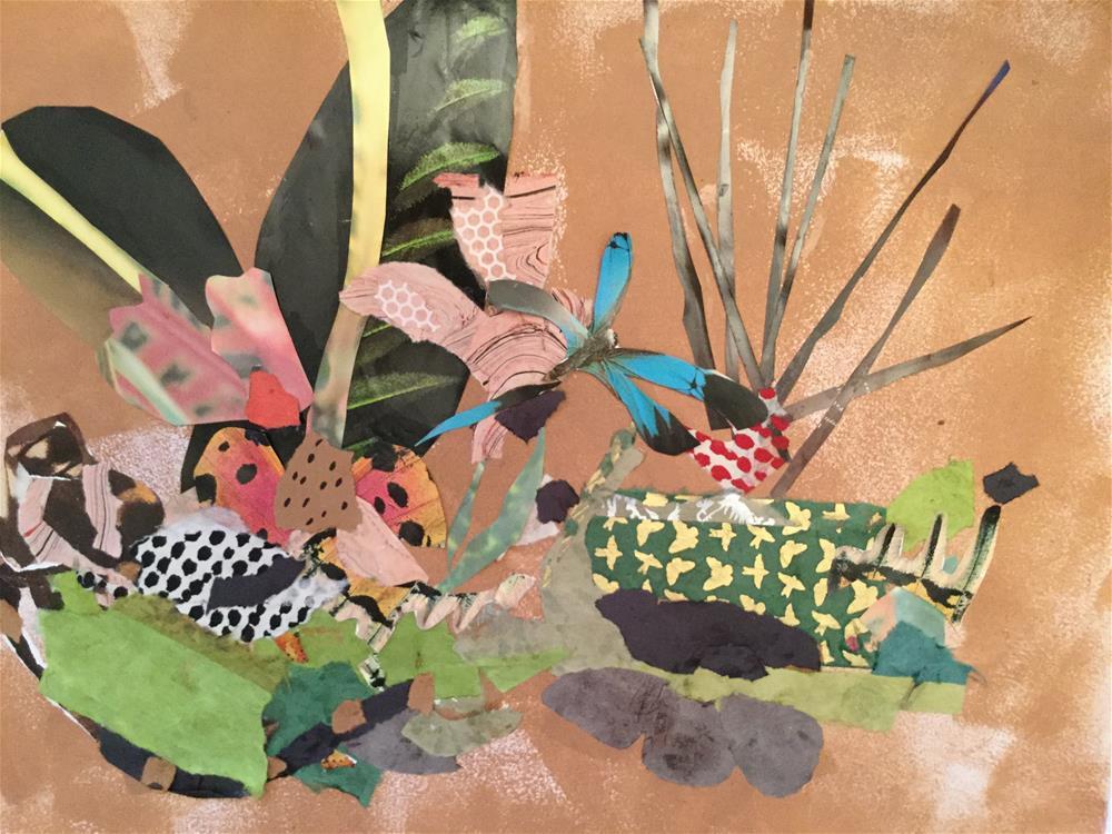 """Dragonfly salad"" original fine art by pamela kish"